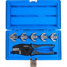 ACP-10001 Клещи для обжимки клемм в наборе с 6-ю губками