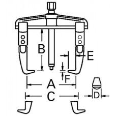 ATB-1025D Съемник с двумя захватами американского типа 200х150мм