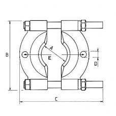 ATB-1037 Съемник сепаратор 30х50мм