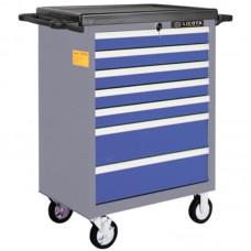AWX-2603BTSK08 Телега инструментальная 387пр., 7 полок, пласт. стол., сине-серая