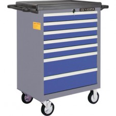 AWX-2603BTSK09 Телега инструментальная 363пр., 7 полок, пласт. стол., сине-серая