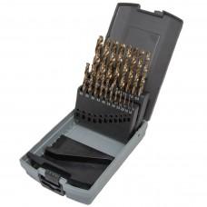GM-BS19C Набор сверл 1.0-10.0 х 0,5мм 19пр. HSS-CO Spiralbohrer (Metall)